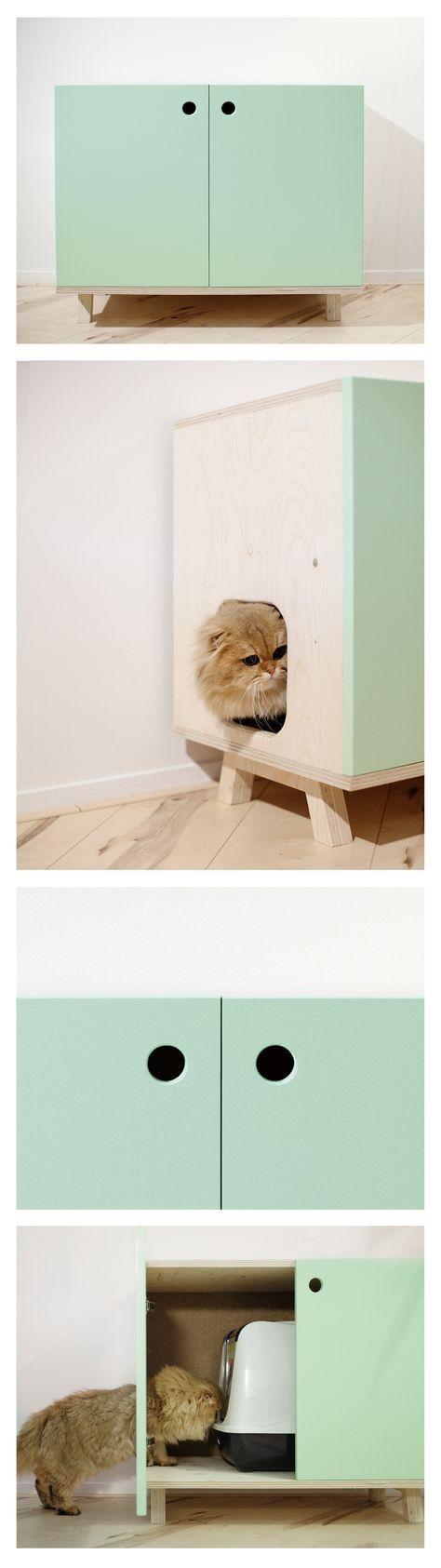lettiera nel mobile per gatti